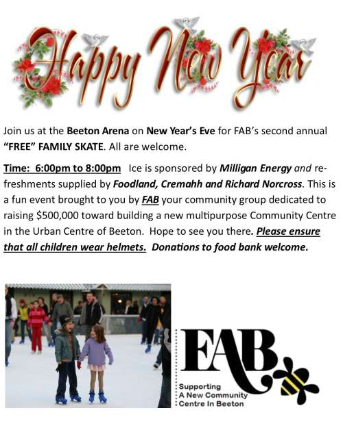New Year`s Eve  Family Skate